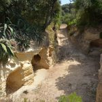 "Gallerie scavate nel ""Macco""  (foto di Francesca Marini)"