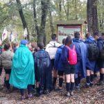 Gli scout in visita a Nomentum